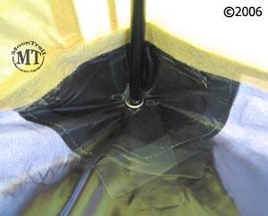 Bibler Pueblo 4 person ultralight mountaineering tent detail of reinforced corner pocket ... & Pueblo tent :: Moontrail