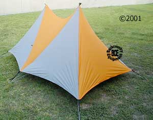 Black Diamond Betamid 3-4 rear view of tent with floor & Beta Light :: Moontrail
