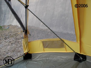 Black Diamond Skylight  detail of mesh pocket by door & Skylight tent :: Moontrail