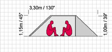 Exped Sirius Extreme tent, tent dimensions