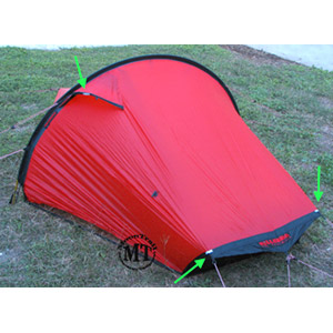 Image above shows 3 green arrows which point to the new reflectors that come standard with all Akto tents after 2006. There are two reflectors on the back ...  sc 1 st  Moontrail & Hilleberg Akto tent (free ground shipping) :: 4-season tunnel ...