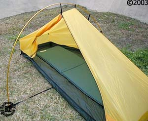 Hilleberg Akto 1 person 4 season tent: 34 view door open