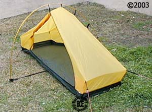 ... Hilleberg Akto 1 person 4 season tent 34 view with open door & Akto tent :: Moontrail