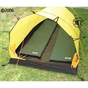 Photo above shows the Hilleberg Nallo 2 or Nallo 2 GT inner tent with two standard size Therm-a-Rest sleeping pads placed inside the tent. & Nallo 2 :: Moontrail