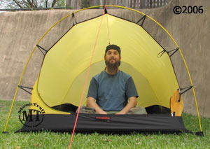 In the photo above both the solid fabric panel and mesh panel of the front door of the Nallo 2 or Nallo 2 GT inner tent have been unzipped and stowed in ... & Nallo 3 :: Moontrail