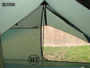Hilleberg Rajd 2 person mountaineering tent view from inside tent with door open & Rajd - no poles :: Moontrail