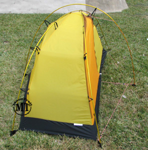 Left side view of the Hilleberg Soulo inner tent. The additional guylines of the pole holder kit can be seen extending from the bottom and the corners of ... & Soulo :: Moontrail