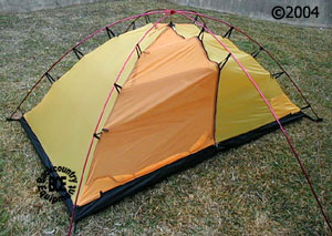 Hilleberg Staika mountaineering tent; view of tent & Staika tent :: Moontrail