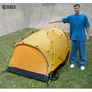 Hilleberg Tarra mountaineering tent; view with model