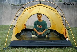 Hilleberg Tarra 2 person mountaineering tent; interior with model  sc 1 st  Moontrail & Tarra tent :: Moontrail