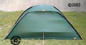 Hilleberg Unna 1 person mountaineering tent,  front view