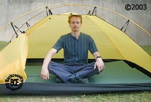 Hilleberg Unna 1 person Mountaineering tent: view with model