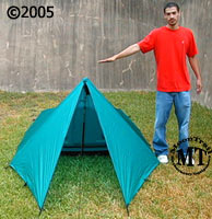 "Integral Designs Silshelter ; shown with 5""11"" model"