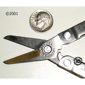 Leatherman Micra Multi-Tool; photo of Spring loaded Scissors