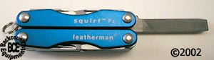 Leatherman P4 & S4 Squirt; P4 model in blue