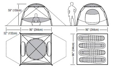Tech Specs  sc 1 st  Moontrail & Marmot Halo 4P (free ground shipping) :: 3-season tents ...