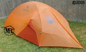 Marmot Nyx 2P ; three quarter front view with rainfly & Marmot Nyx 2P :: 3-season tents :: Shelters :: Moontrail