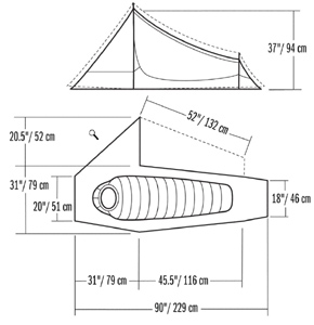 Packed Size 6  × 19  (15 × 48 cm)  sc 1 st  Moontrail & Mountain Hardwear Sprite 1 2010 :: 3-season tents :: Shelters ...