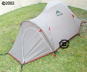 MSR Fury 2 person mountaineering tent,34 view withrainfly