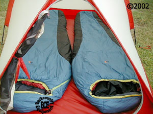 MSR Fury 2 person mountaineering tent, front view with 2 bags