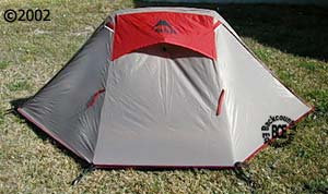 MSR zoid 2 tent front with fly & Zoid 2 :: Moontrail