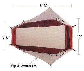 MSR Zoid 2 tent diagram  sc 1 st  Moontrail & MSR Zoid 2 :: 3-season tents :: Shelters :: Moontrail