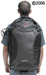Osprey Meridian wheeled travel pack : worn by 5'11