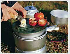 Trangia Multidisk as chopping board