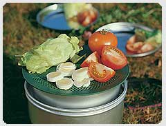 Trangia Multidisk as serving dish