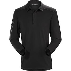 Captive Polo Shirt LS, men's