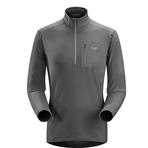 Rho LT Zip Neck, men's