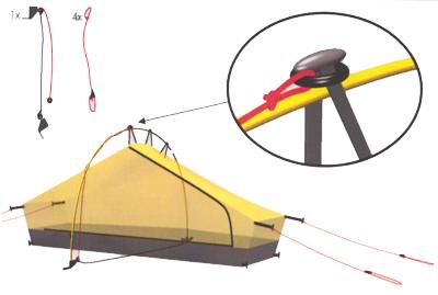 Pole holder kit for Akto
