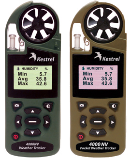Kestrel 4000NV with Night Vision screen